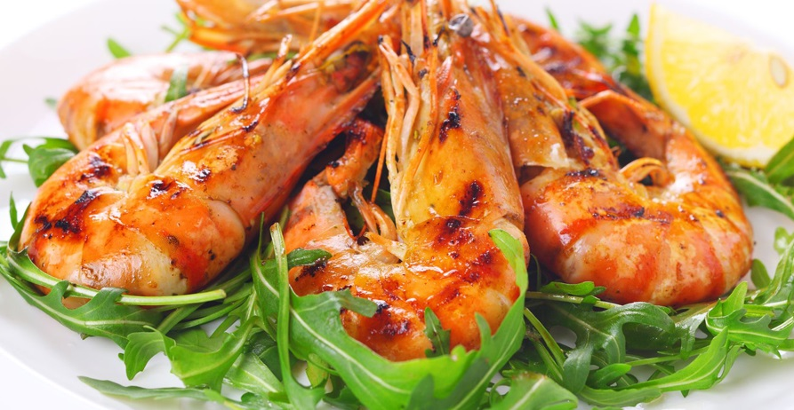 bbq wedding catering prawn