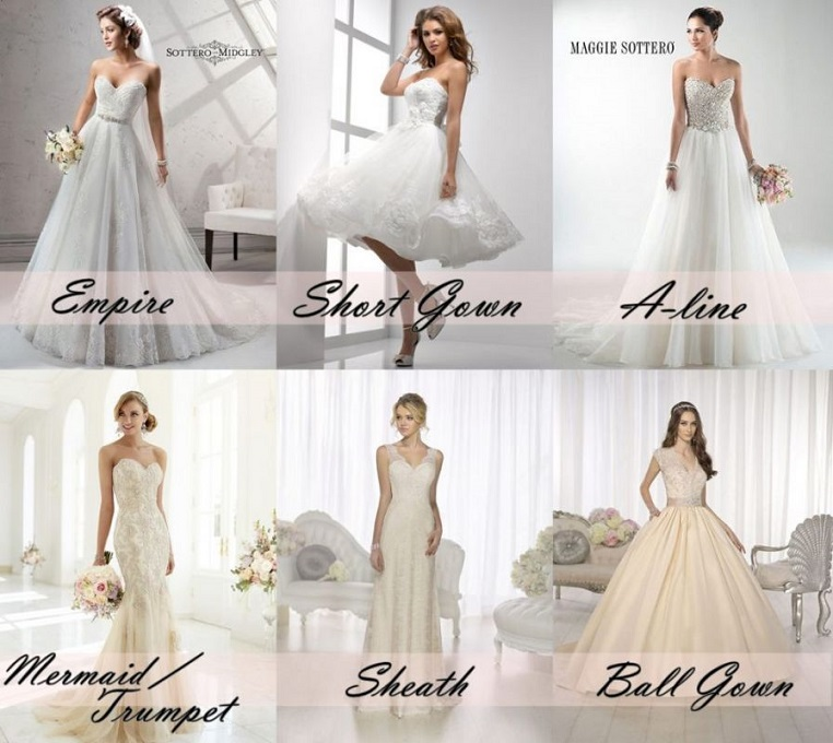 wedding gowns with different designs