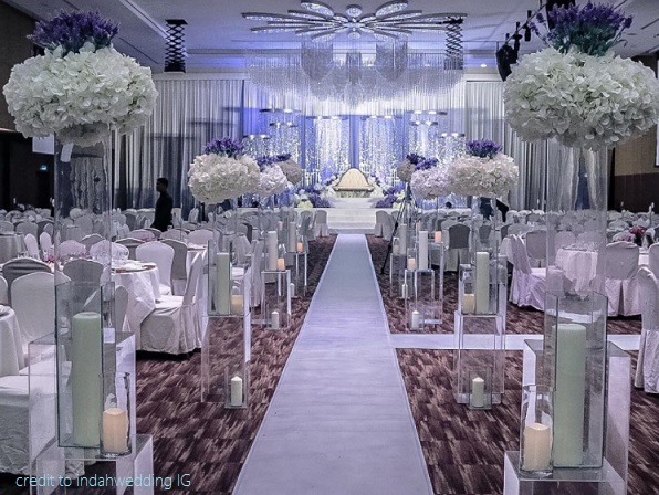 wedding decor at a wedding hall