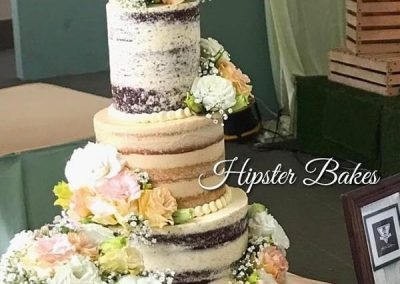 Hipster Bakes Wedding Cake