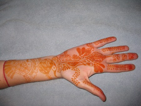 example of henna fading