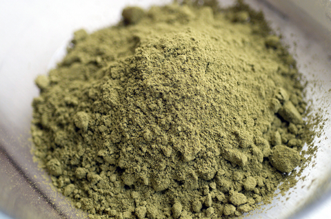 closeup shot of henna powder