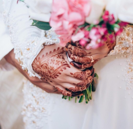 malay wedding henna design